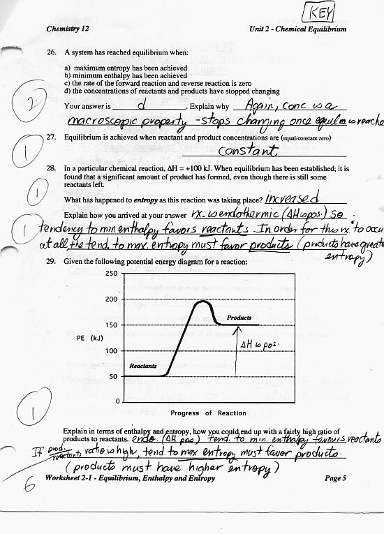 Worksheet21KEYp5jpg – Rates of Reaction Worksheet