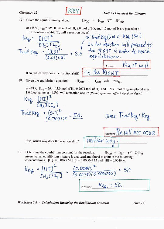 Worksheet Answer Key To Science Worksheets chemistry 12 mr nguyens website unit 2 review answer key page 1 3 4 5 6 7 8 9 10 learning outcomes study guide mc written
