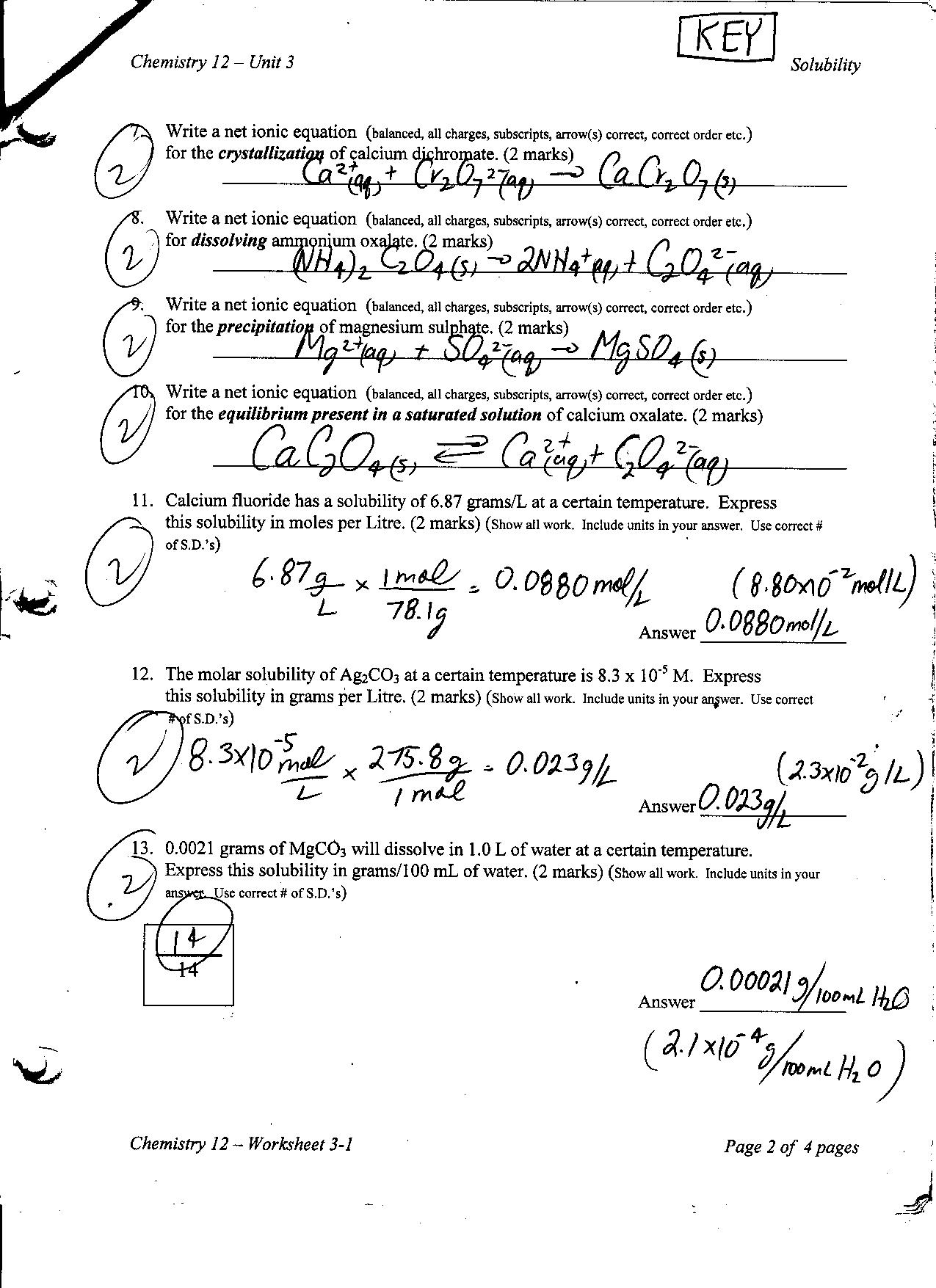 Printables Solubility Rules Worksheet solubility rules worksheet davezan template