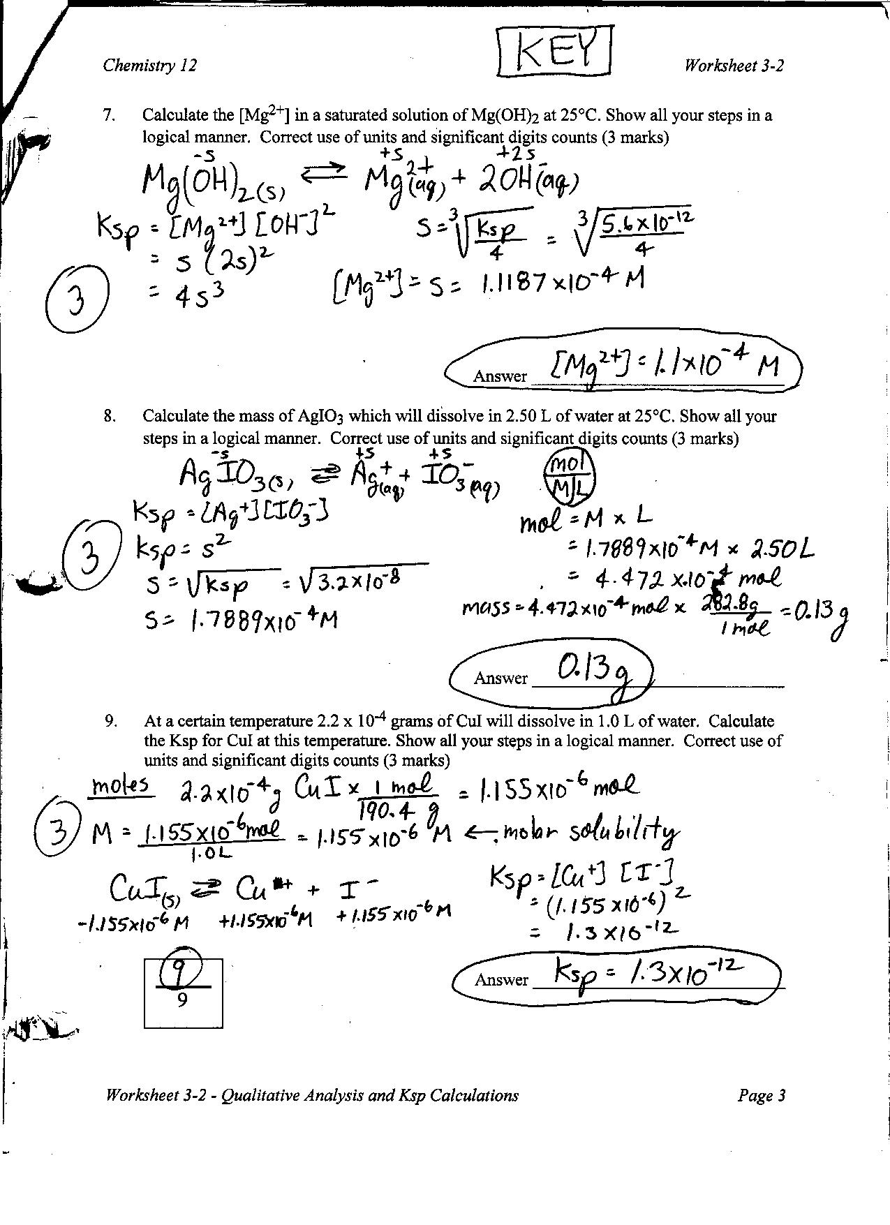 assignment keyp jpg worksheet 3 2 identifying and separating ions and ksp problems key p1 p2