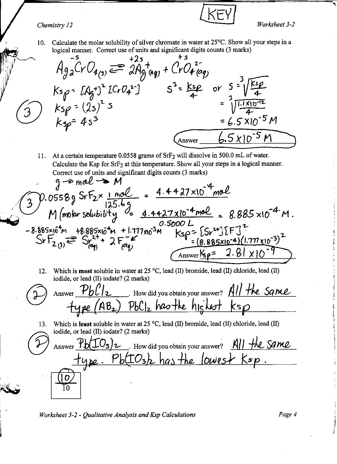 a lab experiment to calculate the solubility product constant of an ionic salt from titrations Physical chemistry laboratory  see `references to experiments' for text   measurement of solubility of a sparingly soluble salt, such  determination of the  thermodynamic solubility product  constant, ks, and mean ionic activity  coefficient, γ±, of ca(io3)2  theoretical values calculated from the theoretical  expressions.