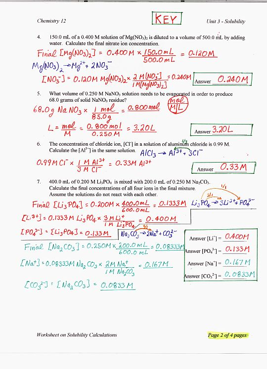 Worksheets Ph And Poh Calculations Worksheet chemistry 12 solubility calculations worksheet keyp1